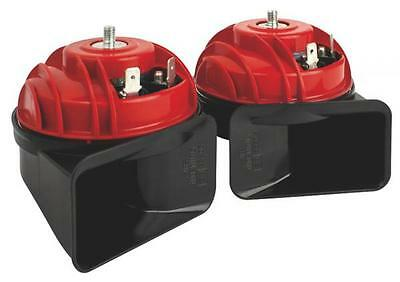 Fiamm AM80s Luxe Dual Horn Set 12v High & Low Note Snail Compact Car Motorcycle