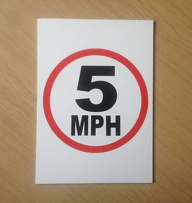 5 MPH speed limit sign.  Safety Sign for schools etc.  (PL-77)