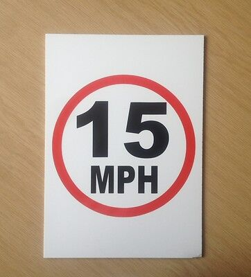 15 MPH speed limit sign.  Safety Sign for schools etc.  (PL-79)