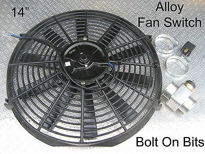 """14"""" Electric Cooling Thermostat Radiator Fan Kit LandRover Discovery 1 200 Tdi"""