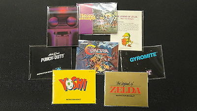 100 NES Manual And Insert Bags   Protect Your Contents Too!   Sleeves Nintendo