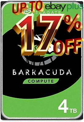 "Seagate BarraCuda 4TB 3.5"" 5900RPM 256MB SATA Internal Desktop Hard Drive HDD"