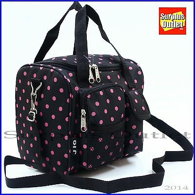 Insulated Lunch Bag With Adjustable Shoulder Strap front Pocket