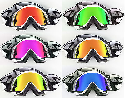 GOGGLE-SHOP REPLACEMENT MIRROR LENS to fit OAKLEY CROWBAR MOTOCROSS GOGGLES NEW