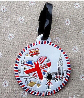 NEW FOR LONDON soldier style white  Luggage Bag Tag     PAA17