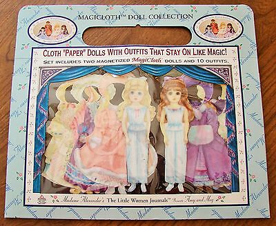 Magicloth Madame Alexanders Amy & Meg Magnetic Cloth Dress Up Dolls & 10 Outfits