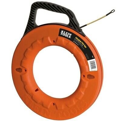 Klein Tool 50' Fiberglass Fish Tape Wire Puller Laser Etched 1' Increments