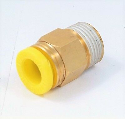 Push To Connect Male Pneumatic Tube Fitting 3/8 X Npt 1/8 (8401-0286)