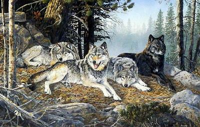 """Terry Doughty """"Watchful Eyes"""" Wolf Print 12"""" x 7.75"""""""