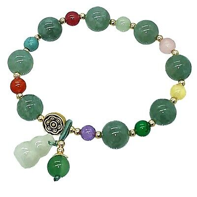 Feng Shui handmade natural Red Agate stone crystal beads bracelet amulet