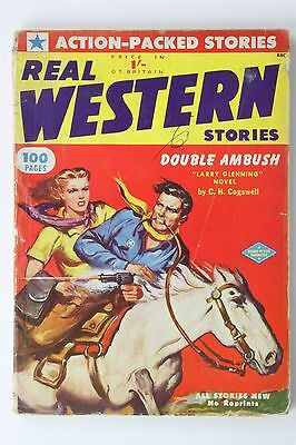 Real Western Stories June 1952 UK Ed Vintage Fiction Monthly Cogswell Columbia