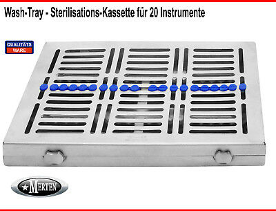 Sterilisationkassette - Sterilisation Tray / Box  für 20 Instrumente Wash Tray