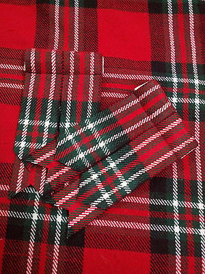 T C New Men's Kilt Flashes Fraser Tartan /Scottish Kilt Hose Sock Flashes Fraser
