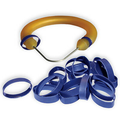 """50 medium (1/2""""-5/8"""" band) Shrink Rings to cover speargun band constrictor cord"""
