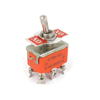 DPDT ON/ON 2 Positions 6 Screw Terminal Toggle Switch AC 250V 15A