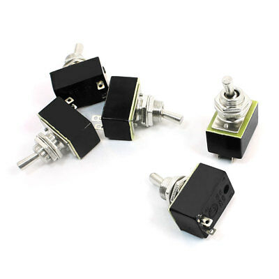 AC 220V 3A 2Pin 2 Position ON/OFF SPST Latching Toggle Switch 5 Pcs