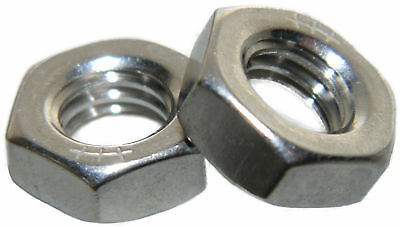 Stainless Steel Fine thread thin jam half height Hex Nuts 3/8-24 Qty 25