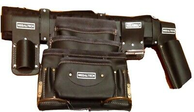Leather Riggers Nail Bag Tool Belt Pouch apron oil tanned top grade cow hide