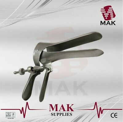 M@K Vaginal Speculum Cusco Side Screw Small/Medium/Large Stainless Steel