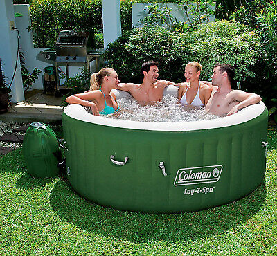 """Coleman Lay-Z-Spa 77"""" x 28"""" Inflatable Spa Portable 4-Person Hot Tub"""