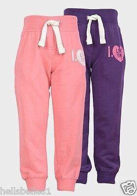 "Girl's ""funky Diva"" Fleece Lined Jogging/jog Pants/trousers 3 4 5 6 7 8 Years"