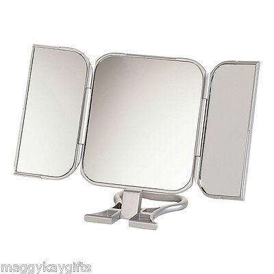 Travel Mirror Silver Pink Red Black Blue Handheld Hanging Free-standing Makeup