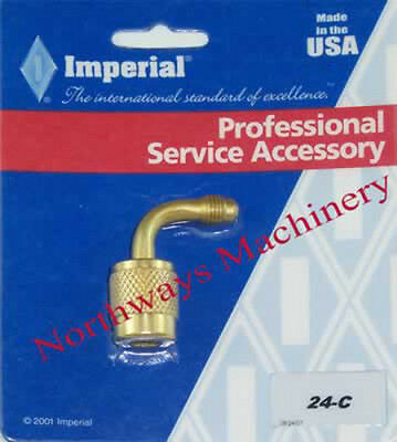 "Imperial 24C Refrigeration 90˚ Shut Off Couplers for Freon Hoses 1/4"" SAE"
