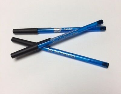 Custom Personalized Blue Translucent Stick Pens Pk of 50 Printed w/. Your Info