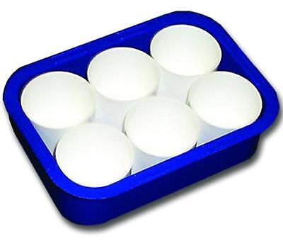6 Paint & Water Pots - Paint Pots in Coloured Tray x 1