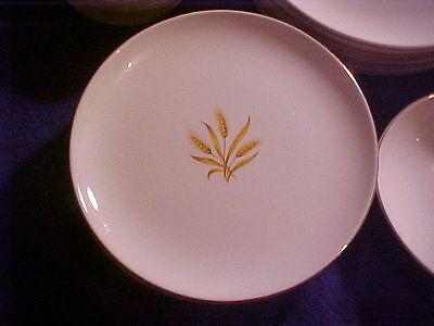 """VTG Taylor-Smith-Taylor Versatile Golden Wheat 6.5""""Bread Plate(3 available)"""