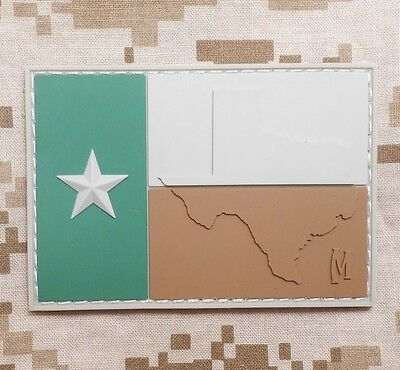 3D PVC TEXAS TX FLAG LONE STAR STATE ARMY MORALE TACTICAL MULTICAM VELCRO PATCH