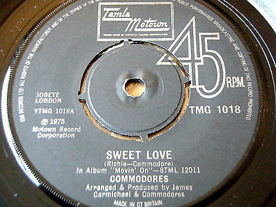 "Commodores - Sweet Love   7"" Vinyl"