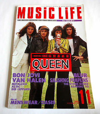 QUEEN MUSIC LIFE JAPAN MAGAZINE 11/1995 Bon Jovi Blur Smashing Pumpkin Van Halen