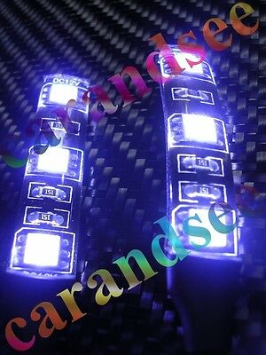 2  Petites Bandes A 3 Led Smd5050 5Cm 12 Volts Blanc Tuning Exterieur Waterproof