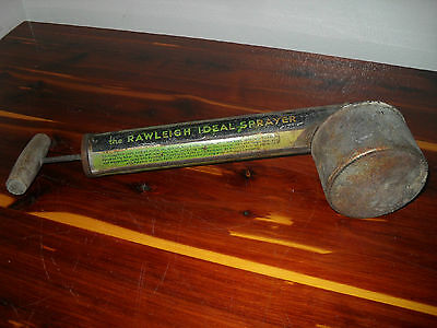 Antique Rawleigh Household Ideal Bug Sprayer & Raid Black Flag Glass Sprayer
