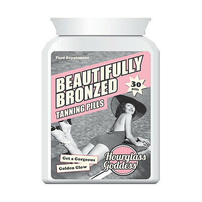Hourglass Goddess Beautifully Bronzed Tan Pill No Sunbathing Darkest Tan
