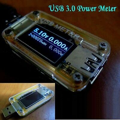 USB 3.0 OLED Battery Charger Doctor Voltage Current Power Capacity Ammeter Meter
