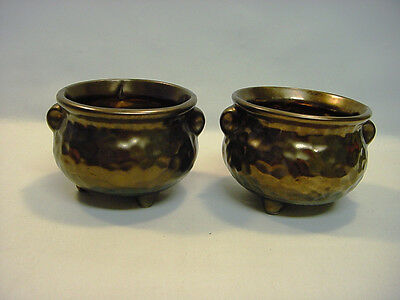 ~* Pair of Vintage Brown Lusterware McCoy, USA Pottery Footed Bowls