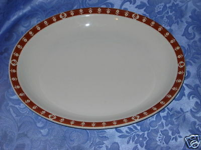 "VINTAGE SYRACUSE CHINA 11"" OVAL SERVING PLATTER 1973 CANADA RESTAURANT WARE"