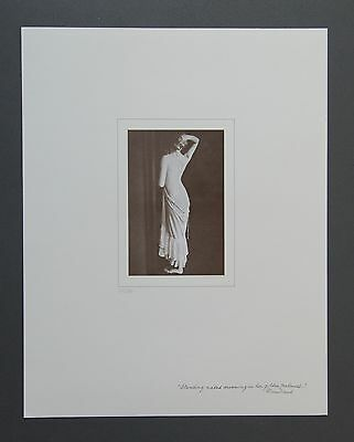 David Hamilton Limited Edition Photo 30x38 Standing naked Rimbaud Nude Girl B&W