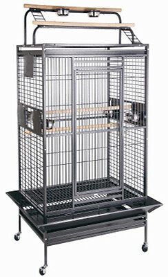 Large Open Play Top Wrought Iron With Double Ladders Parrot Macaw Bird Cage-937