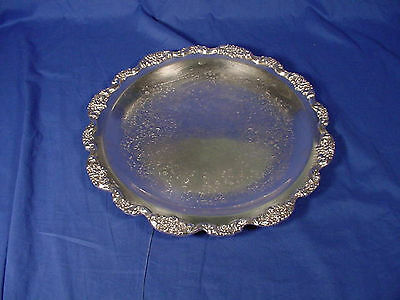 "Vintage & Heavy POOLE Silver Plated 15"" Serving Tray OLD ENGLISH"