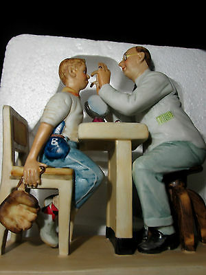 "Vintage  Norman Rockwell Figurine ""The Optometrist"" ""RARE"""