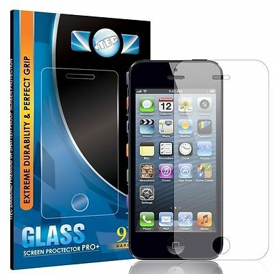 100% Genuine Tempered Glass Film Screen Protector For Apple Iphone 4 4S New
