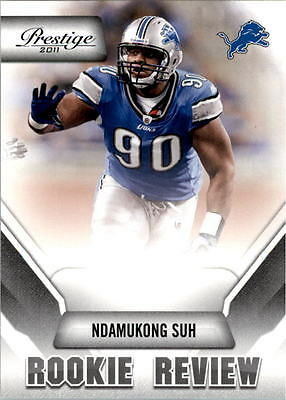 2011 Prestige Rookie Review #31 Ndamukong Suh - NM-MT