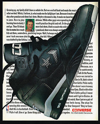 1991 Basketball Celtic's Larry Bird Converse Star Conquest Shoe Print Ad