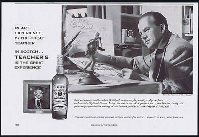 1959 Steve Canyon Milton Caniff Teachers Scotch Vintage Print Ad