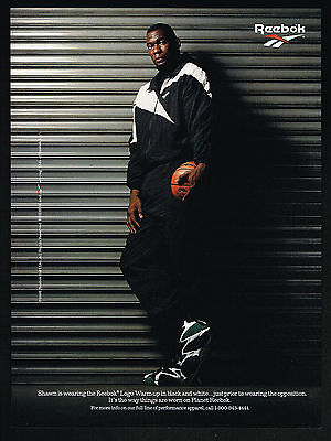 1995 Shawn Kemp Reebok Sports Fashion Basketball Print Ad