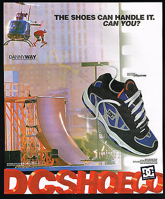 2000 Danny Way Skateboard Helicopter Jump Las Vegas DC Shoes Print Ad