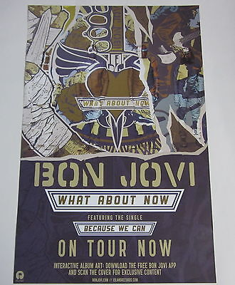 "Bon Jovi - What About Now * 2 Sided Promo Poster * 11"" x 17"" rare"
